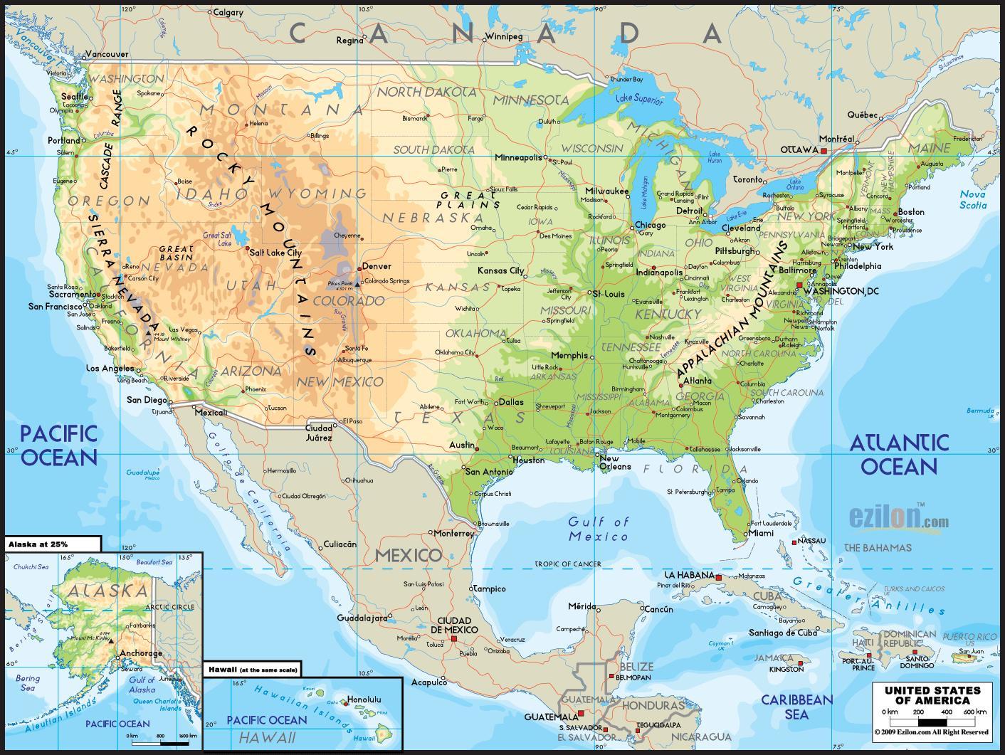 Amerikan Kartta Jossa On Valtioiden Kartta Valtioiden