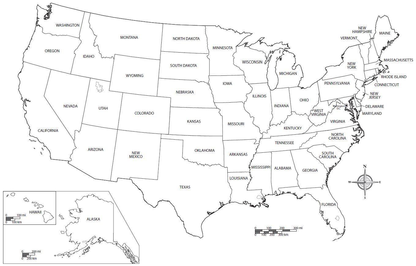 Ilmainen Tulostettava Yhdysvaltain Kartta Ilmainen Tulostettava