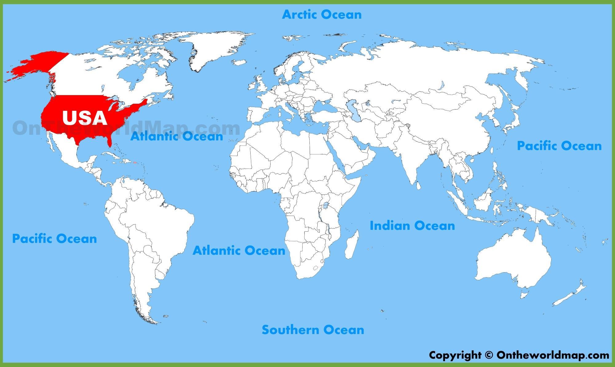 Maailman Kartta Usa Maailman Kartta Usa Pohjois Amerikka