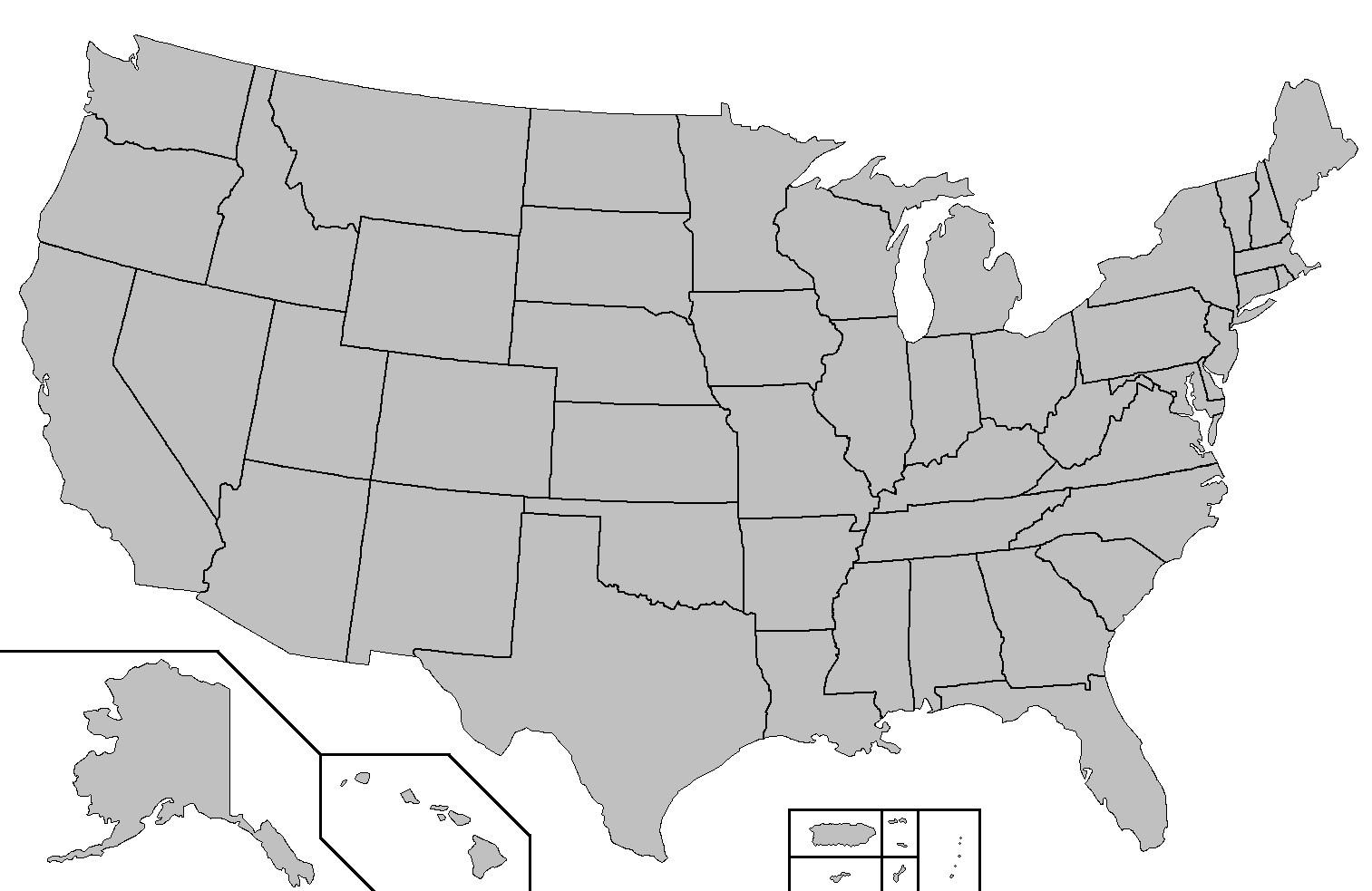 Yhdysvaltain Kartta Osavaltiot Quiz Kartta Us States Quiz