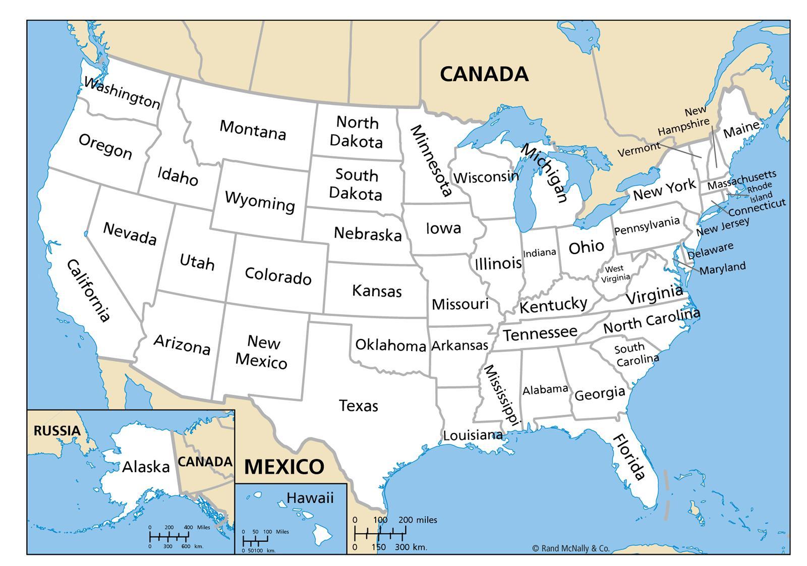 Yhdysvaltojen Kartta Jossa Nimet Kartta Yhdysvaltojen Kanssa