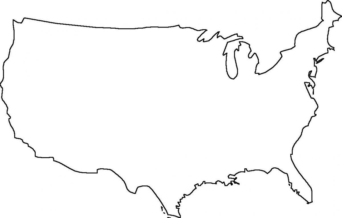 Tyhja Usa Map Tyhja Kartta Usa Pohjois Amerikka Amerikka